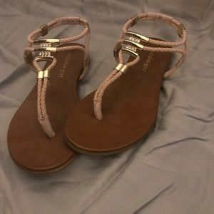 Madden Girl Shoes - Tan sandals by Madden Girl